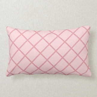 Pink Streaks : Add your photo or text Lumbar Pillow