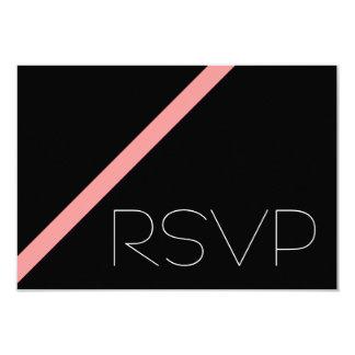 Pink Stripe RSVP 9 Cm X 13 Cm Invitation Card