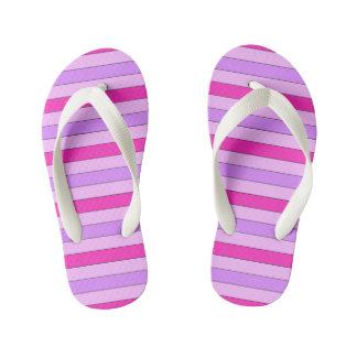 Pink Striped Flip Flops Thongs