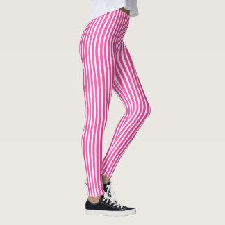 Pink Stripes Leggings for Her