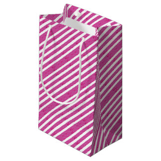 Pink Stripes - Party Supply Small Gift Bag