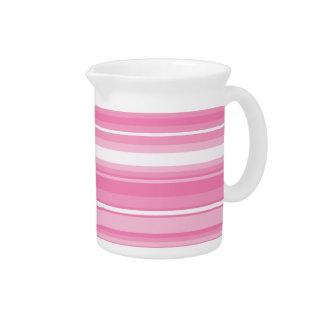 Pink stripes pitcher