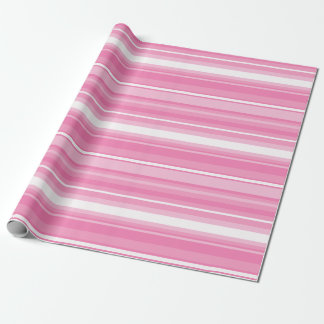 Pink stripes wrapping paper