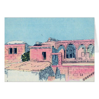Pink Stucco Card