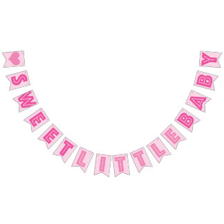 PINK ❤ SWEET LITTLE BABY ❤ GIRL SIGN BUNTING