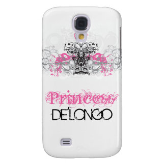 Pink Swirl Crown Filigr Personalized iPhone 3 Case