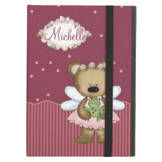 Pink Teddy Bear Fairy Princess iPad Air Cases