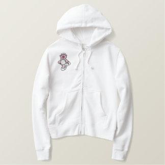 Pink Teddy Bear Nurse Embroidered Shirt