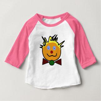 "Pink tee-shirt for baby, raglan sleeves, ""Clown "" Baby T-Shirt"