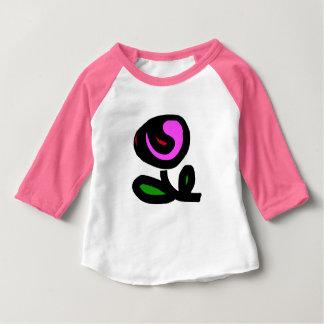 """Pink tee-shirt for baby, raglan sleeves, """"Rose """" Baby T-Shirt"""
