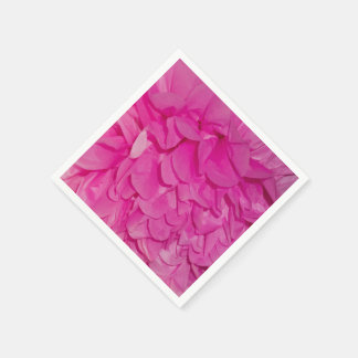 Pink Tissue Paper Flower Texture Disposable Napkin