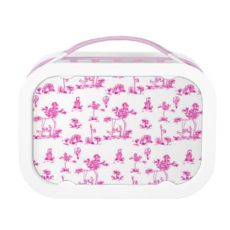 Pink Toile Unicorn Lunchbox