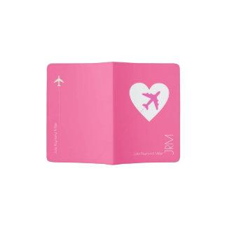 pink travel feminine passport holder