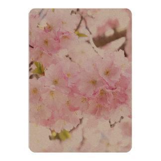 Pink Tree Cherry Blossom 13 Cm X 18 Cm Invitation Card