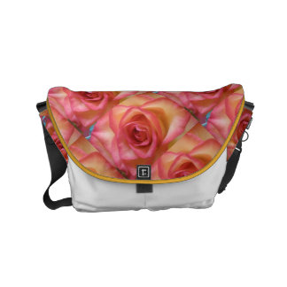 Pink Trimmed Rose Courier Bags