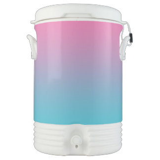 Pink & Turquoise Ombre Drinks Cooler