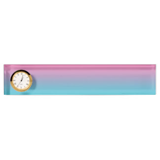 Pink & Turquoise Ombre Nameplate
