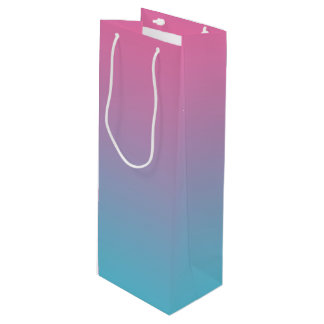 Pink & Turquoise Ombre Wine Gift Bag