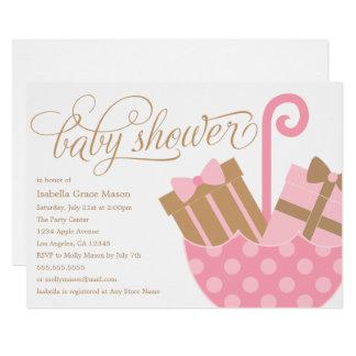 Pink Umbrella | Baby Shower Invite