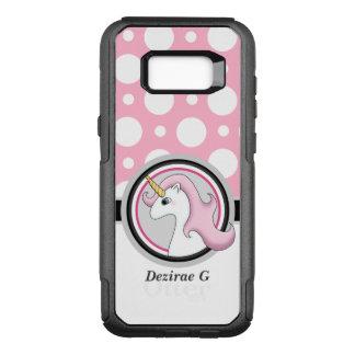 Pink Unicorn Polka Dot Samsung Galaxy S8 Case