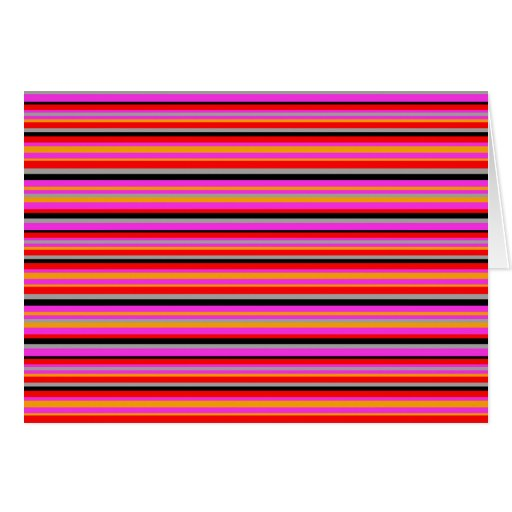 Pink Vibration Abstract Blank Card