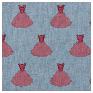 Pink Vintage Dress Pattern Fabric