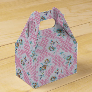 Pink vintage fabric favor boxes wedding favour boxes