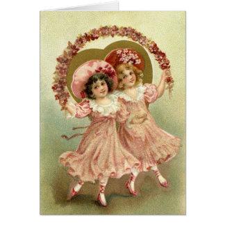 Pink Vintage Valentine's Day Friendship Card