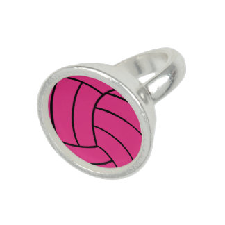 Pink Volleyball Ring
