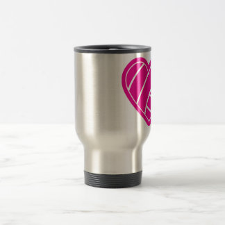 Pink Volleyball Stainless Steel Travel Mug