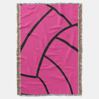 Pink Volleyball Throw Blanket