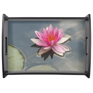 Pink Water Lily Serving Tray