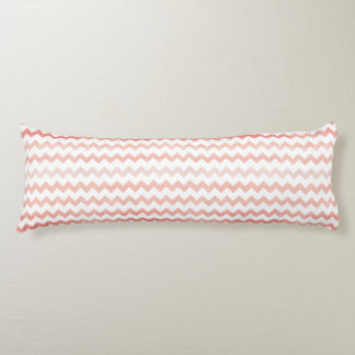 Pink Watercolor Chevron Zigzag Pattern Body Cushion