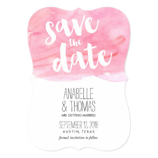 Pink Watercolor Spring Wedding Save the Date 13 Cm X 18 Cm Invitation Card