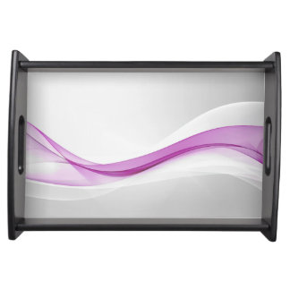 Pink Wave Abstract Serving Tray
