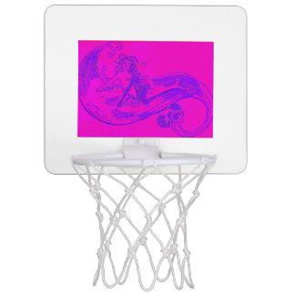 pink wave mermaid basketball hoop