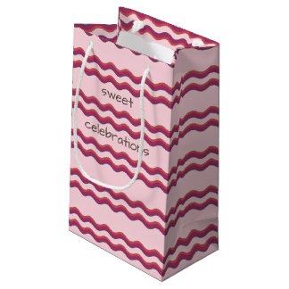 Pink Waves Sweet Celebrations Custom Gift bag