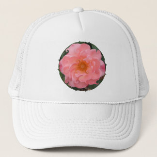 pink whirl rose hat