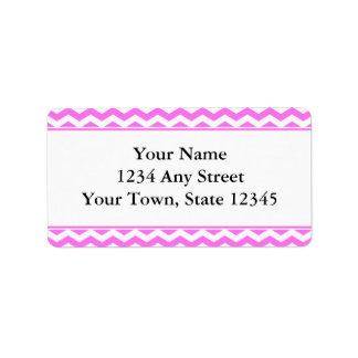 Pink & White Chevron Envelope Address Labels Personalized Address Label