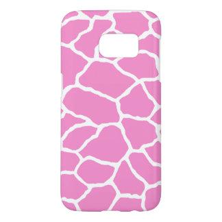 Pink White Giraffe Skin Pattern Samsung Galaxy S7