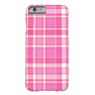 Pink White Plaid Tartan Barely There iPhone 6 Case