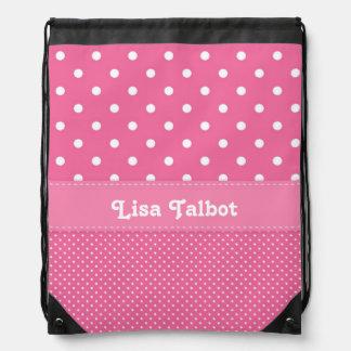 Pink & White Polka Dot Backpack