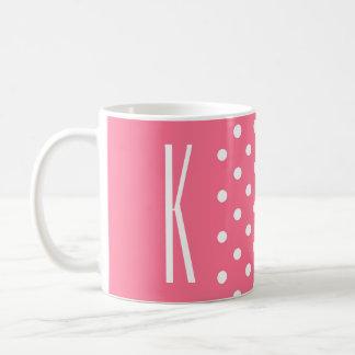 Pink & White Polka Dots Coffee Mug
