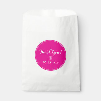 "Pink & white ""Thank You!"" Wedding Favor bags Favour Bags"