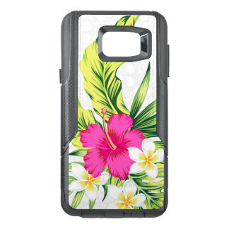Pink & White Tropical Hibiscus Illustration G5 OtterBox Samsung Note 5 Case