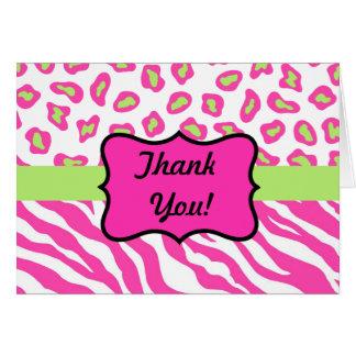 hot pink lips zebra print business cards auto design tech