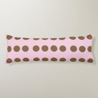 Pink with Brown Dots Body Cushion