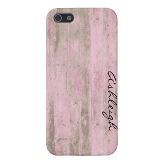 Pink Wood iPhone 5 Case