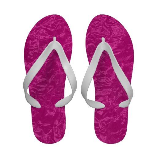 pink wrinkled foil sandals