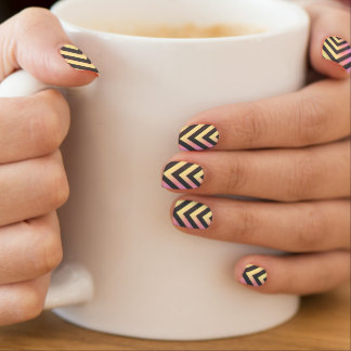Pink Yellow Arrows Nail Wrap